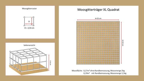 Moosgitterelement XL Quadrat